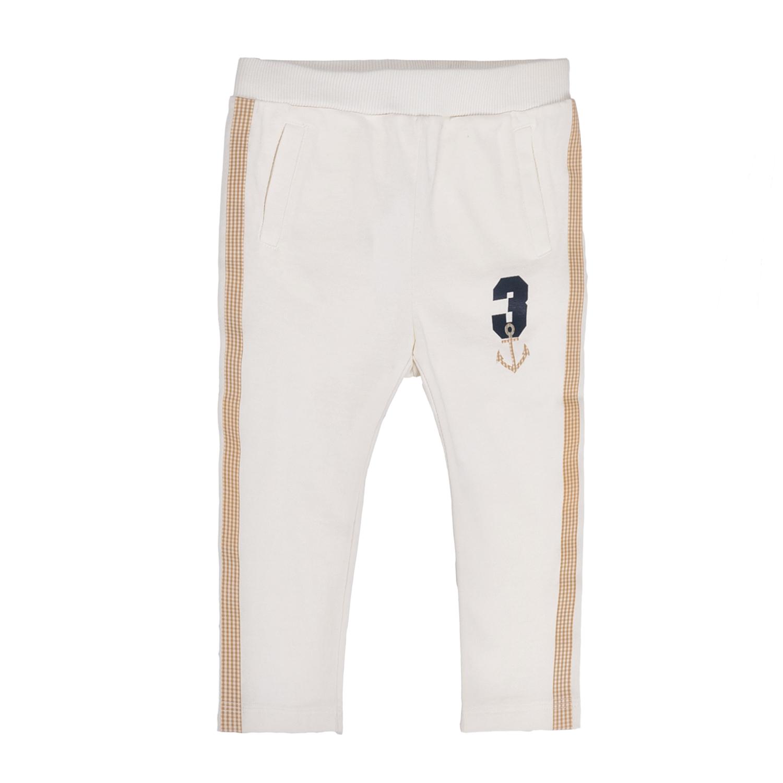 MONNALISA - Αγορίστικο παντελόνι φόρμας MONNALISA λευκό 9be77368469