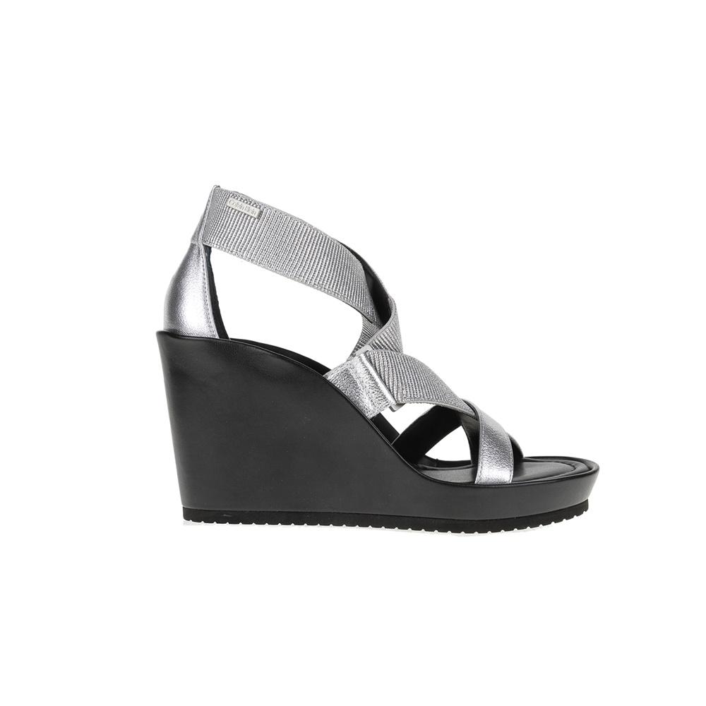 CALVIN KLEIN JEANS - Πλατφόρμες CALVIN KLEIN JEANS HANAH ασημί γυναικεία παπούτσια πλατφόρμες