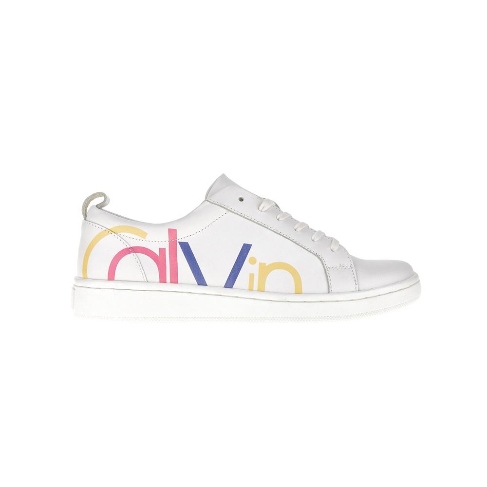 CALVIN KLEIN JEANS – Γυναικεία sneakers CALVIN KLEIN JEANS λευκά