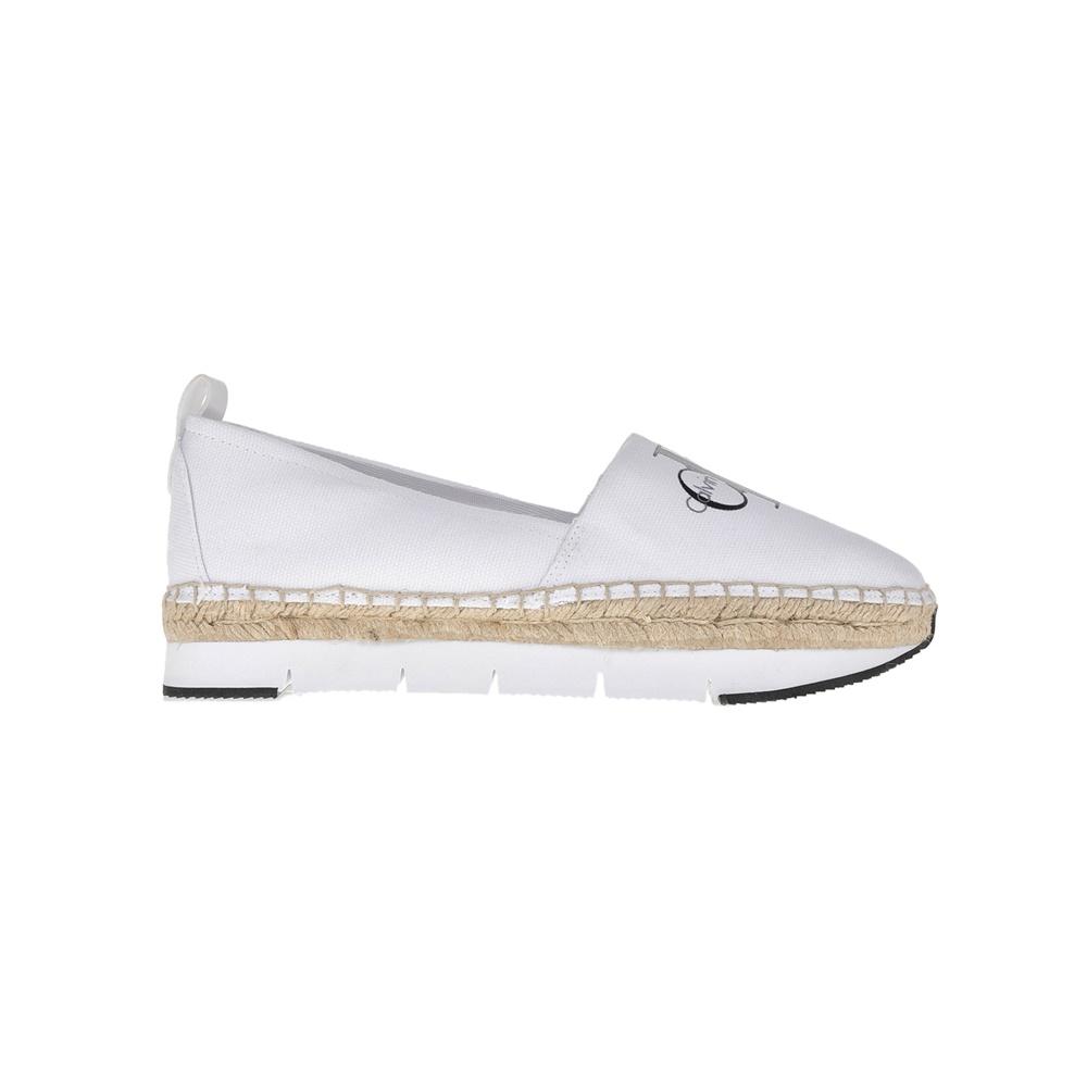 f195ec3012 CALVIN KLEIN JEANS – Γυναικείες εσπαντρίγιες Calvin Klein Jeans λευκές
