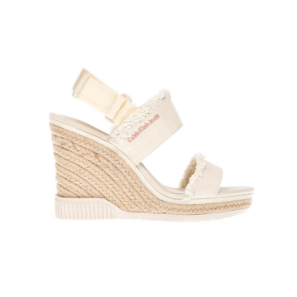 CALVIN KLEIN JEANS - Γυναικείες πλατφόρμες CALVIN KLEIN JEANS μπεζ γυναικεία παπούτσια πλατφόρμες