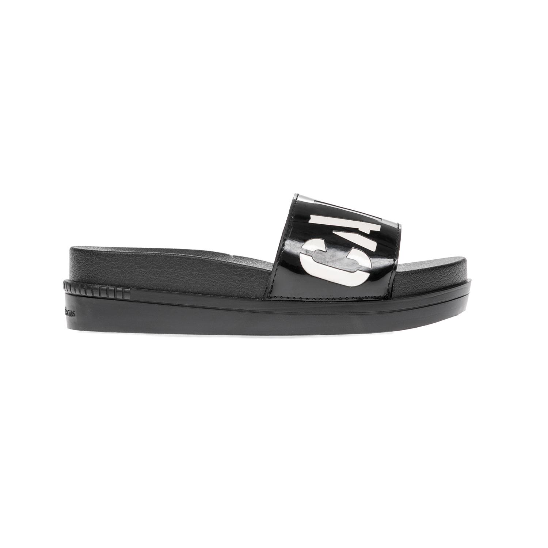 CALVIN KLEIN JEANS - Γυναικείες παντόφλες CALVIN KLEIN JEANS μαύρες γυναικεία παπούτσια παντόφλες