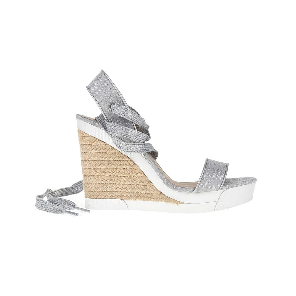 CALVIN KLEIN JEANS - Γυναικείες πλατφόρμες CALVIN KLEIN JEANS ασημί γυναικεία παπούτσια πλατφόρμες