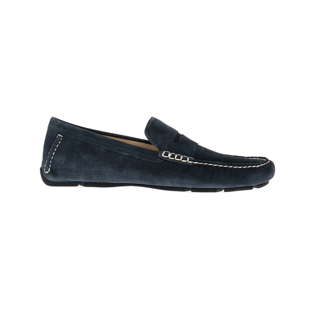 CALVIN KLEIN JEANS - Αντρικά παπούτσια CALVIN KLEIN JEANS μπλε ανδρικά παπούτσια μοκασίνια loafers