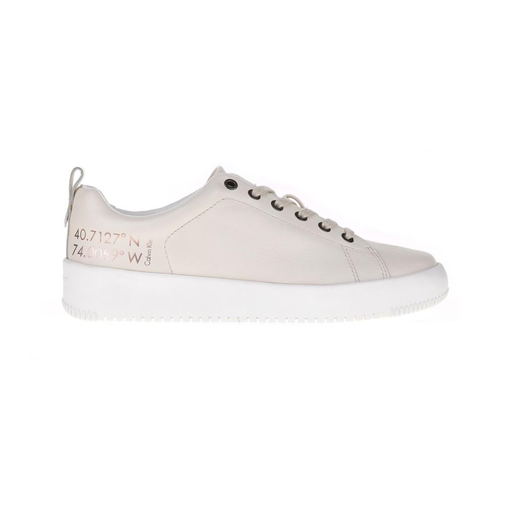 CALVIN KLEIN JEANS – Ανδρικά sneakers GAETAN εκρού