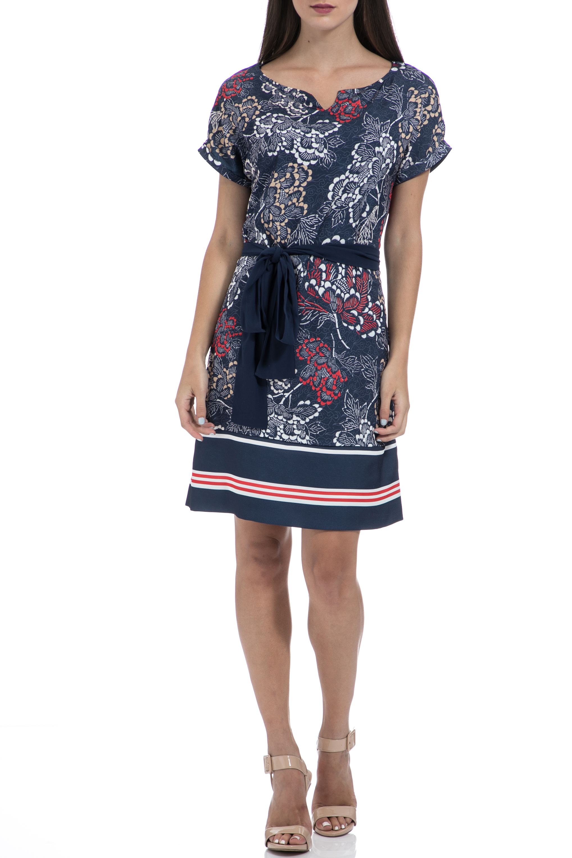 GAS - Γυναικείο φόρεμα GAS VESTITI MAISHA JAPAN FLOWERS μπλε γυναικεία ρούχα φορέματα μίνι