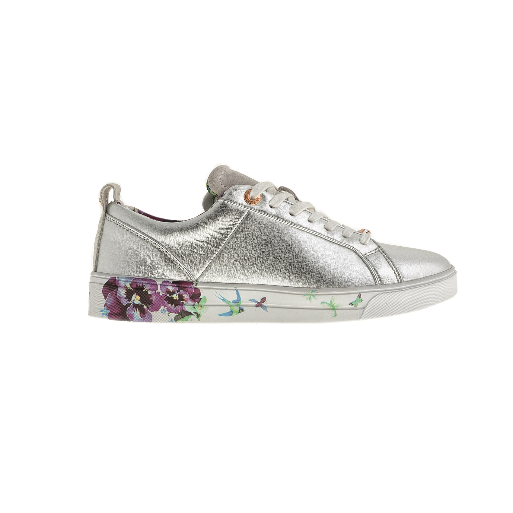 TED BAKER – Γυναικεία sneakers TED BAKER BARRICA ασημί
