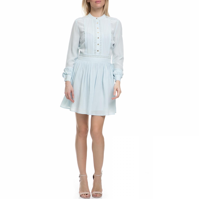 JUICY COUTURE - Γυναικείο μακρυμάνικο μίνι φόρεμα Juicy Couture γαλάζιο γυναικεία ρούχα φορέματα μίνι