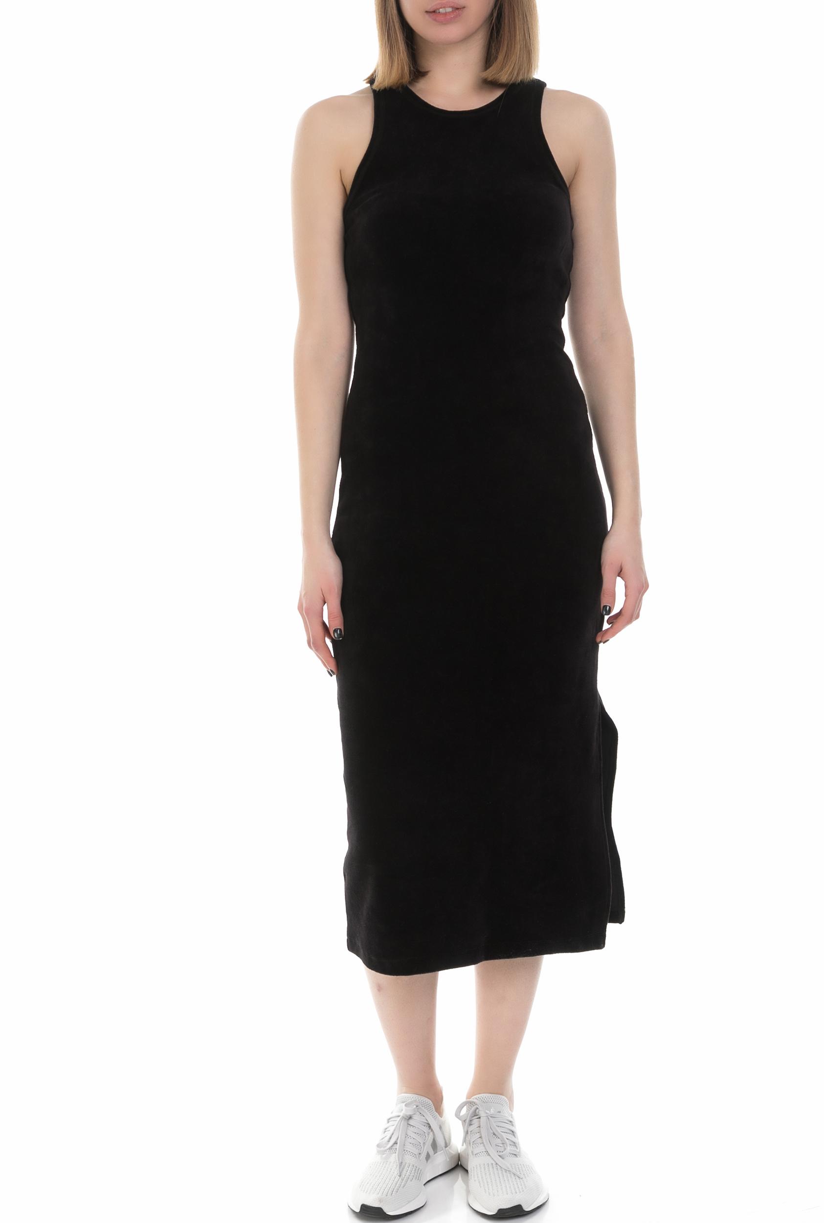 JUICY COUTURE - Γυναικείο αμάνικο midi φόρεμα Juicy Couture μαύρο γυναικεία ρούχα φορέματα μέχρι το γόνατο