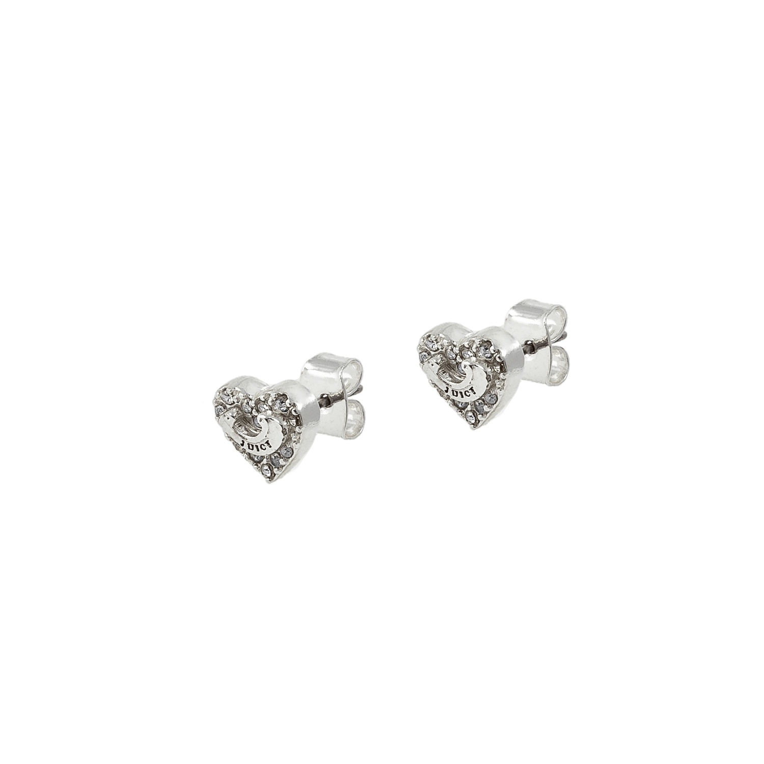JUICY COUTURE – Σκουλαρίκια JUICY COUTURE PAVE HEART WISHES