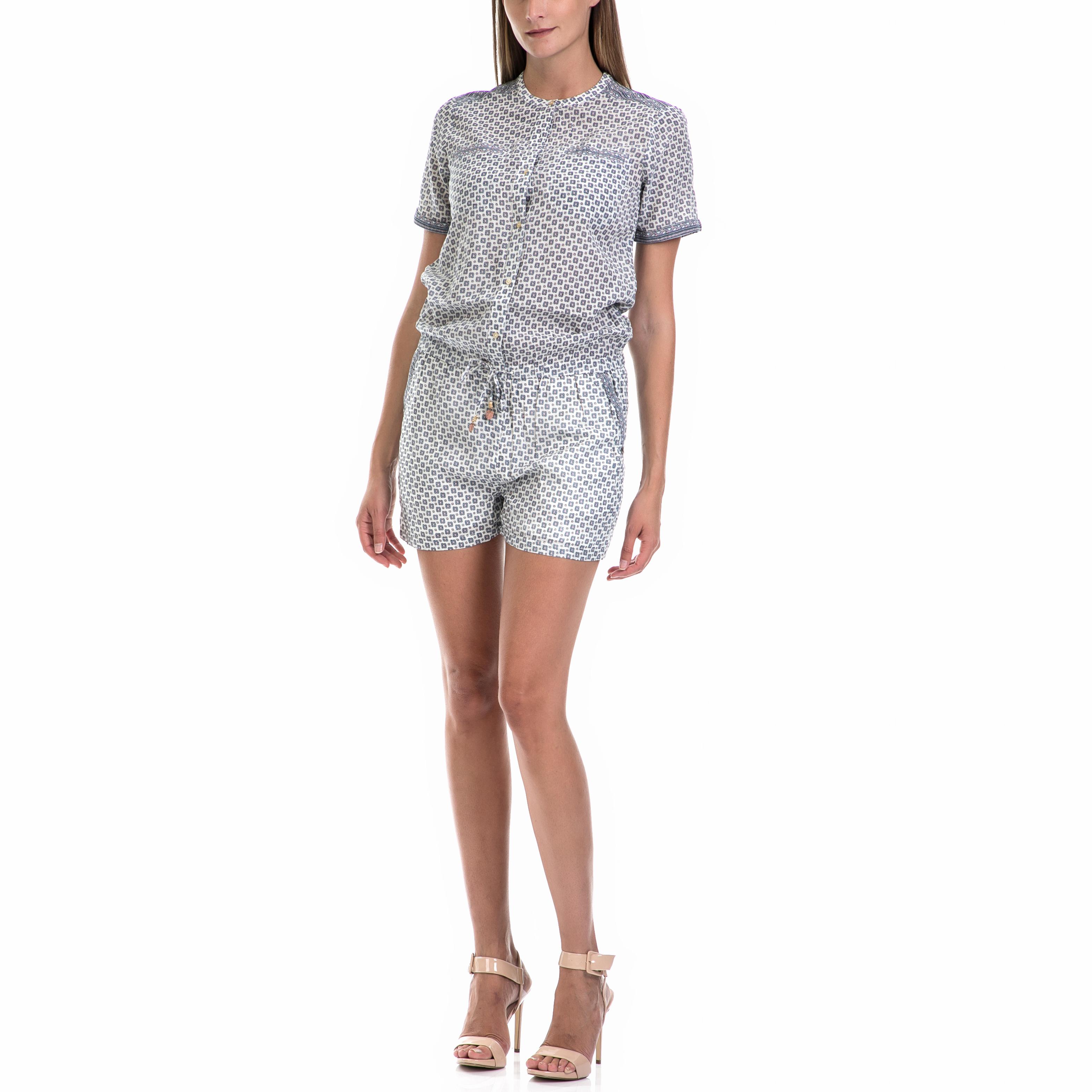 MAISON SCOTCH – Γυναικεία ολόσωμη φόρμα MAISON SCOTCH άσπρη-μπλε