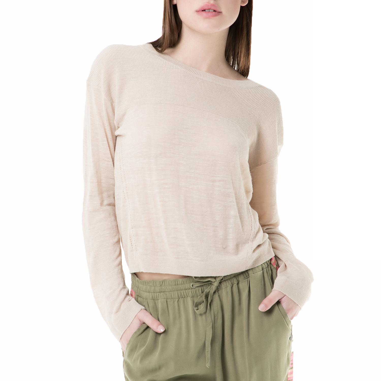 e9c22d419a8 SCOTCH & SODA - Γυναικεία μακρυμάνικη μπλούζα SCOTCH & SODA μπεζ ...