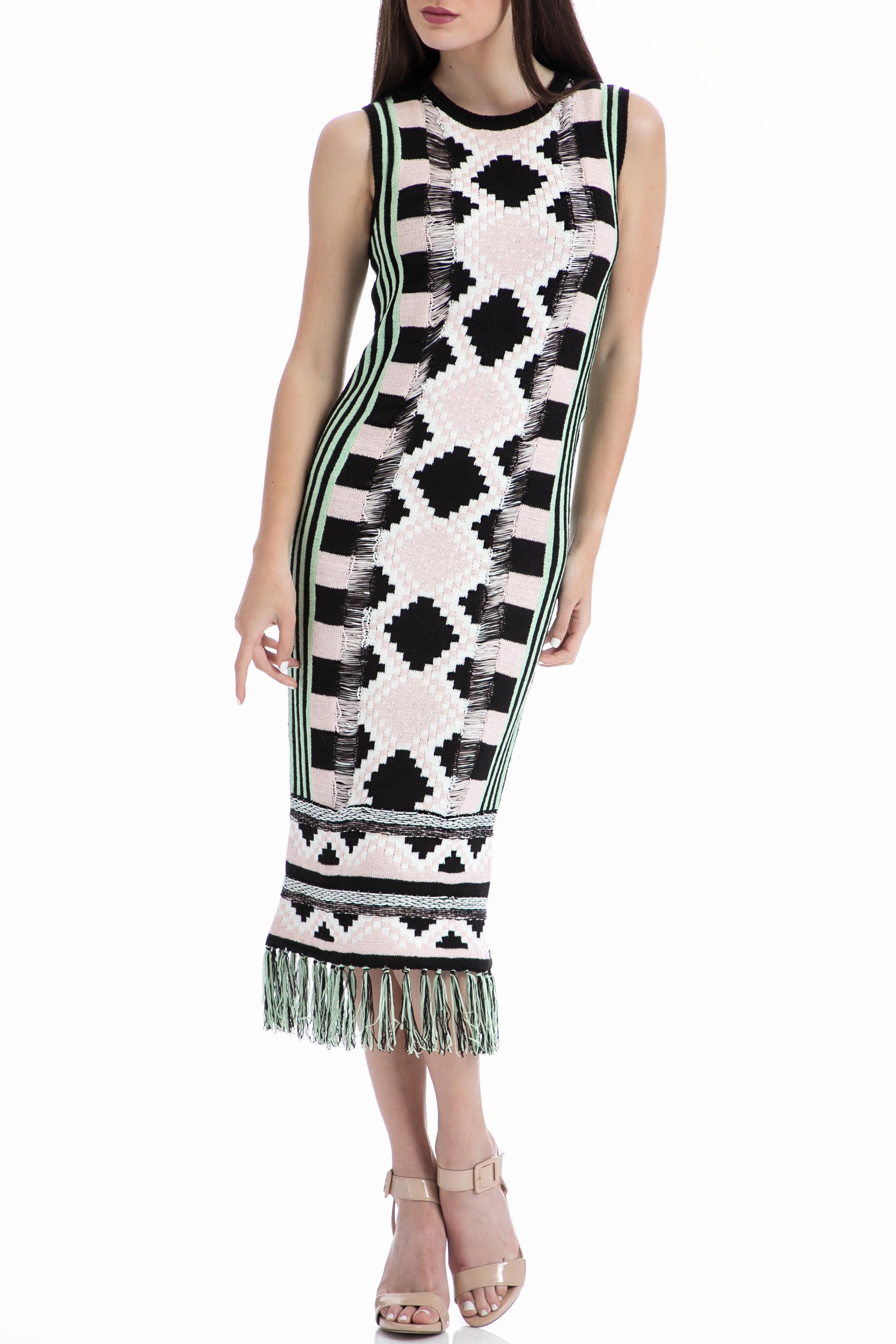 MAISON SCOTCH - Φόρεμα Maison Scotch εκρού-μαύρο γυναικεία ρούχα φορέματα μέχρι το γόνατο