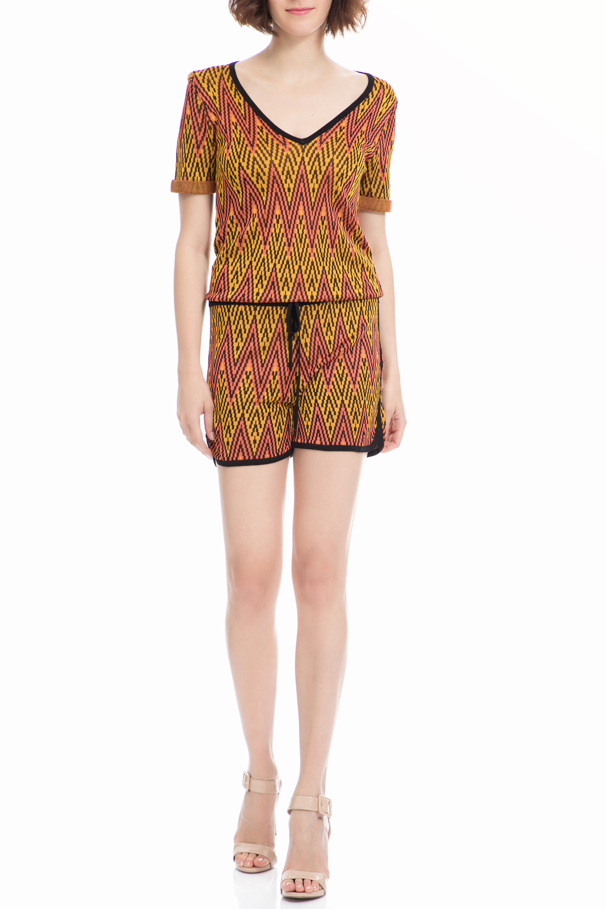 MAISON SCOTCH – Ολόσωμη φόρμα Maison Scotch κίτρινη-κοραλί