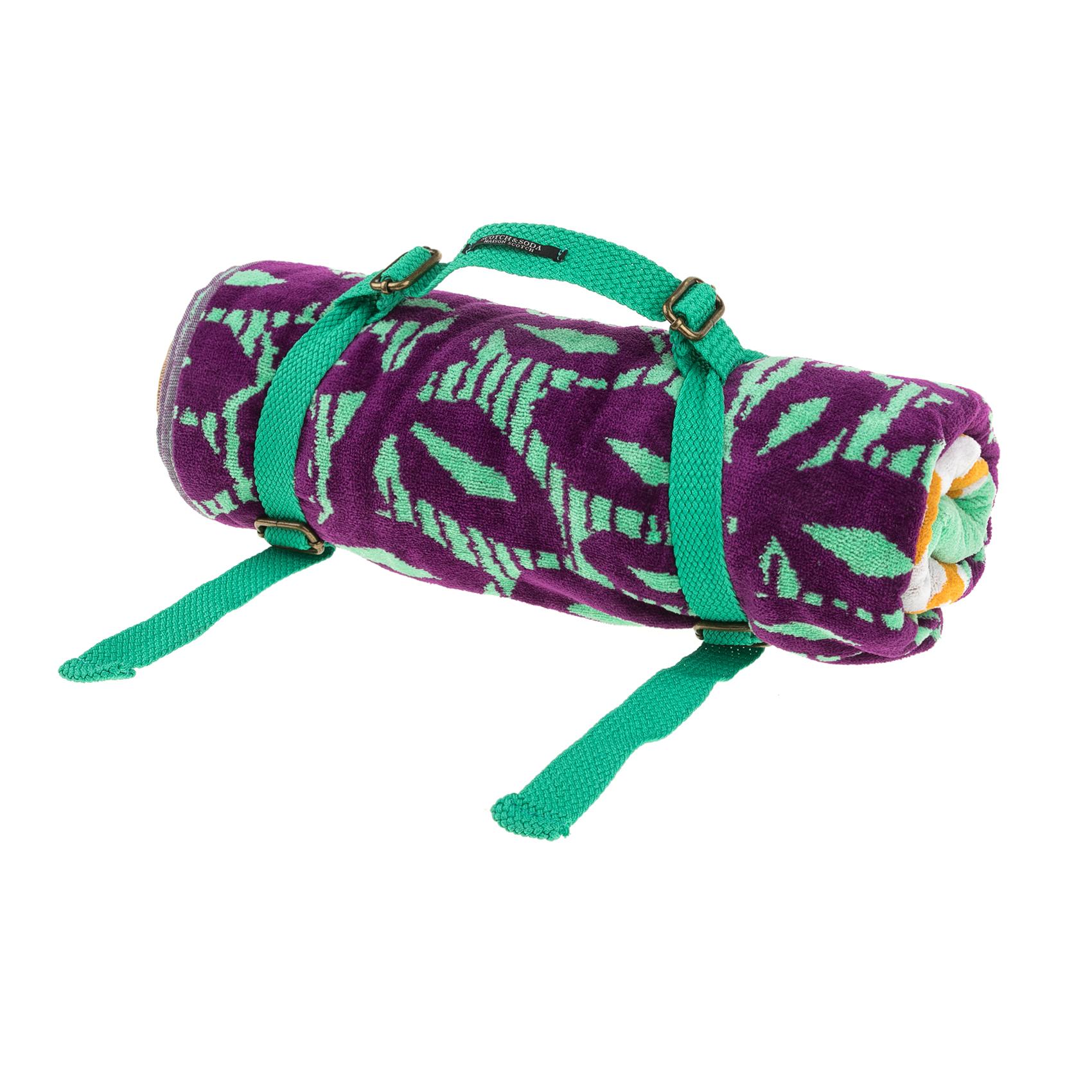 SCOTCH & SODA – Πετσέτα θαλάσσης SCOTCH & SODA μοβ-πράσινη