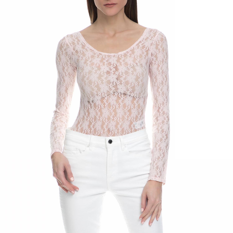 JUICY COUTURE - Γυναικείο ολόσωμο κορμάκι με δαντέλα Juicy Couture ροζ γυναικεία ρούχα εσώρουχα κορμάκια