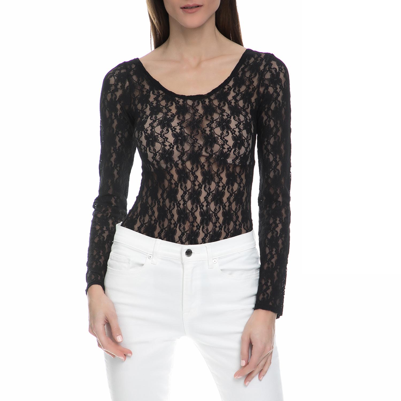 JUICY COUTURE - Γυναικείο ολόσωμο κορμάκι με δαντέλα Juicy Couture μαύρο γυναικεία ρούχα εσώρουχα κορμάκια