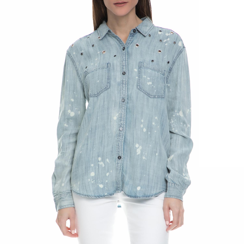 6d6242ad12bb JUICY COUTURE - Γυναικείο denim μακρυμάνικο πουκάμισο Juicy Couture μπλε