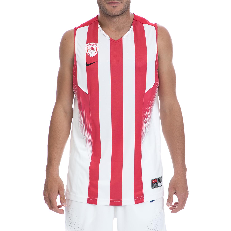 NIKE - Αντρική μπλούζα NIKE άσπρη-κόκκινη ανδρικά ρούχα αθλητικά t shirt