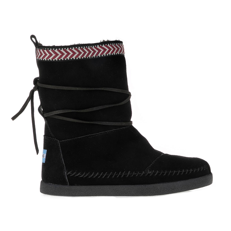 TOMS – Γυναικείες μπότες TOMS Black Suede Trim μαύρες