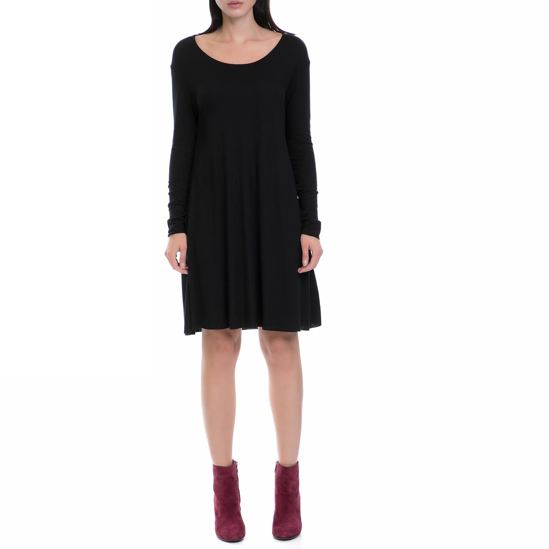 AMERICAN VINTAGE - Γυναικείο φόρεμα AMERICAN VINTAGΕ μαύρο γυναικεία ρούχα φορέματα μέχρι το γόνατο
