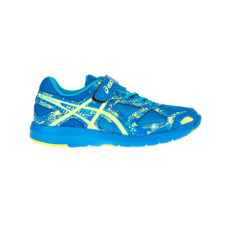 ASICS - Αθλητικά παπούτσια GEL-LIGHTPLAY 3 PS μπλε-κίτρινα παιδικά girls παπούτσια αθλητικά