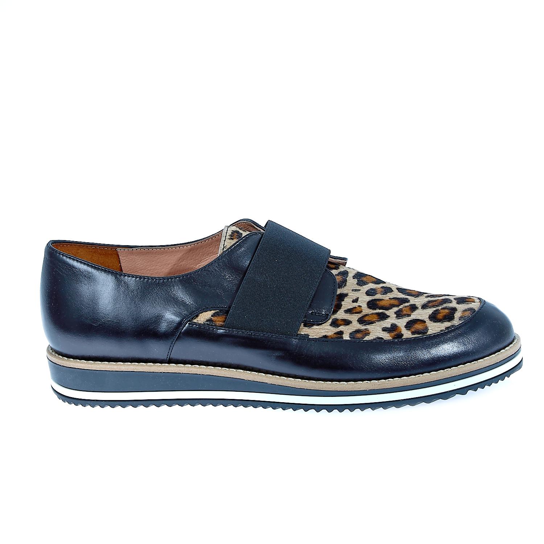 CHANIOTAKIS - Γυναικεία δερμάτινα παπούτσια Chaniotakis μαύρα γυναικεία παπούτσια μοκασίνια μπαλαρίνες μοκασίνια