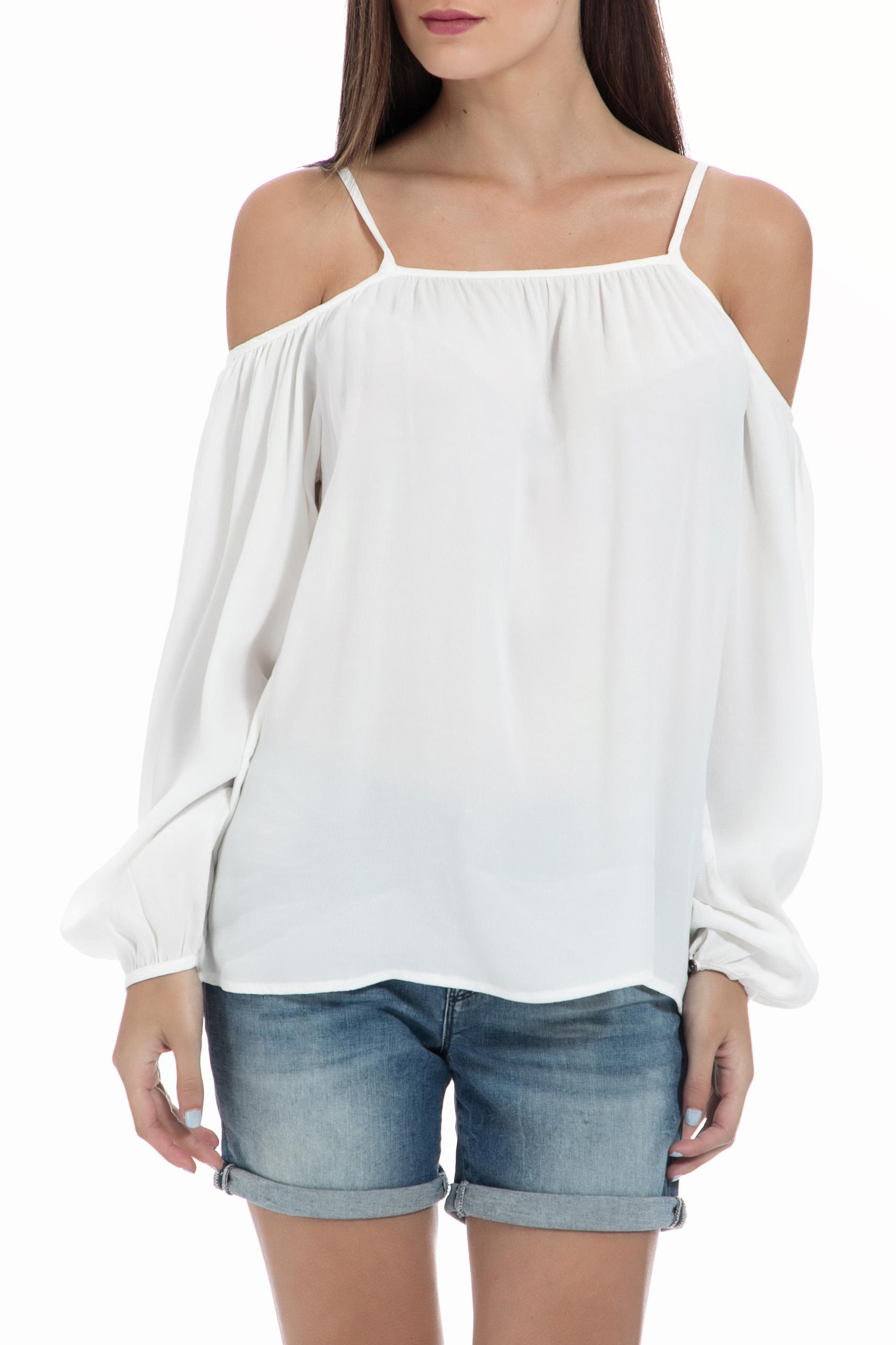 GARCIA JEANS – Γυναικεία μπλούζα Garcia Jeans λευκή