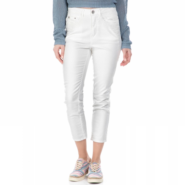 GARCIA JEANS - Γυναικείο ψηλόμεσο τζιν cropped παντελόνι Garcia Jeans λευκό γυναικεία ρούχα παντελόνια jean