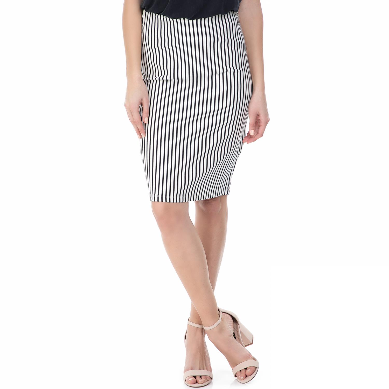 GARCIA JEANS - Γυναικεία ψηλόμεση ριγέ φούστα Garcia Jeans ασπρόμαυρη 8b880df29ad