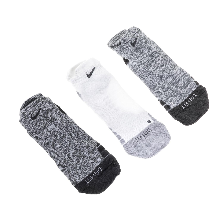 NIKE – Γυναικείο σετ κάλτσες NK DRY CUSH LOW GFX 3PR-STMT γκρι-λευκό-μαύρο