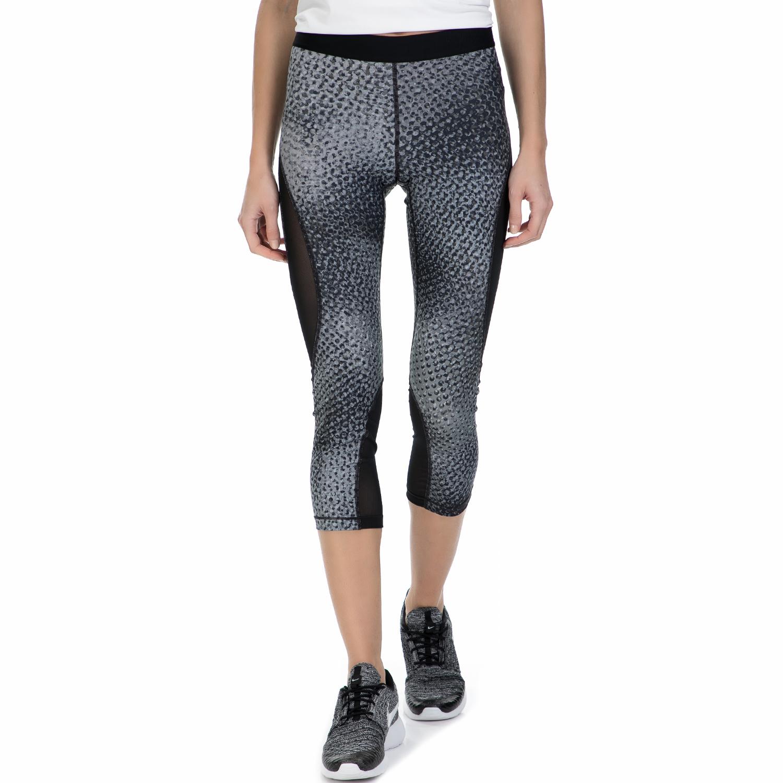 NIKE - Γυναικείο κάπρι κολάν Nike γκρι μοτίβο γυναικεία ρούχα αθλητικά κολάν