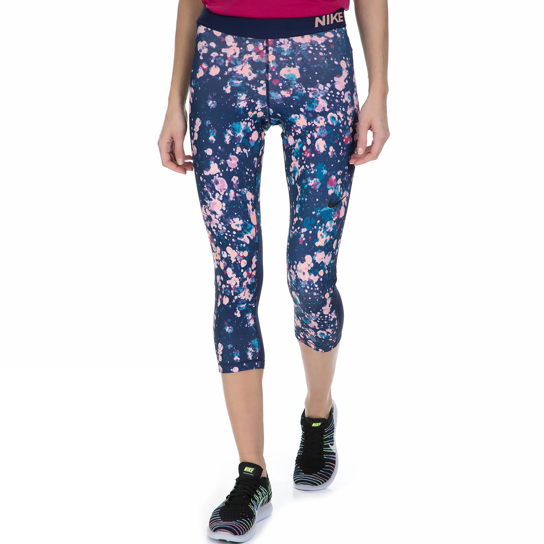 NIKE – Γυναικείο κάπρι κολάν Nike μπλε μοτίβο