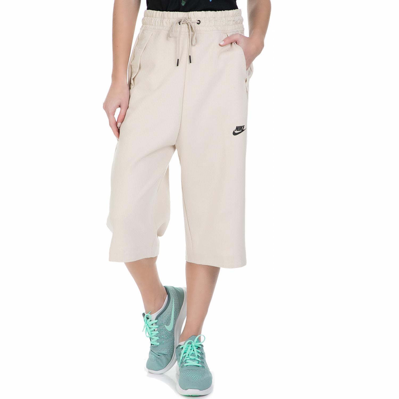 NIKE – Γυναικεία φόρμα Nike TCH FLC SHORT 3/4 μπεζ