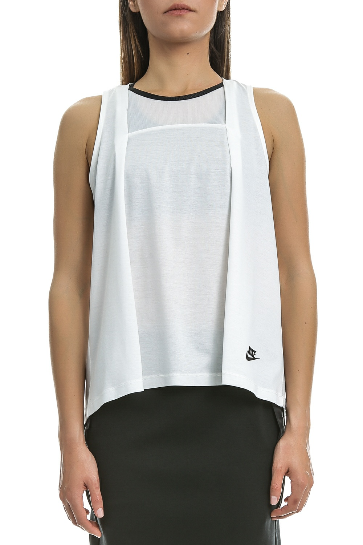 NIKE – Γυναικεία αμάνικη μπλούζα Nike λευκή