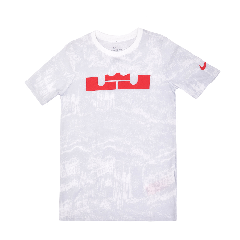NIKE – Αγορίστικη κοντομάνικη μπλούζα Nike λευκή