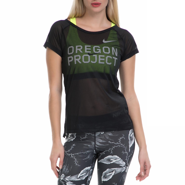 NIKE - Γυναικεία αθλητική μπλούζα NΙKΕ TOP SS μαύρη γυναικεία ρούχα αθλητικά t shirt τοπ
