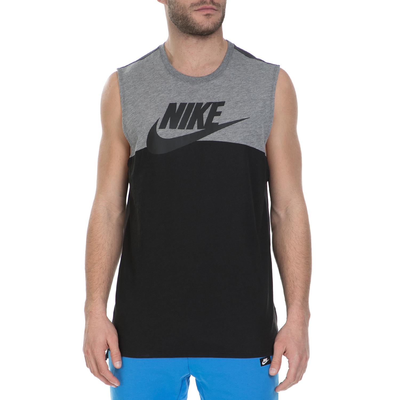 NIKE – Ανδρική αμάνικη μπλούζα Nike μαύρη-γκρι
