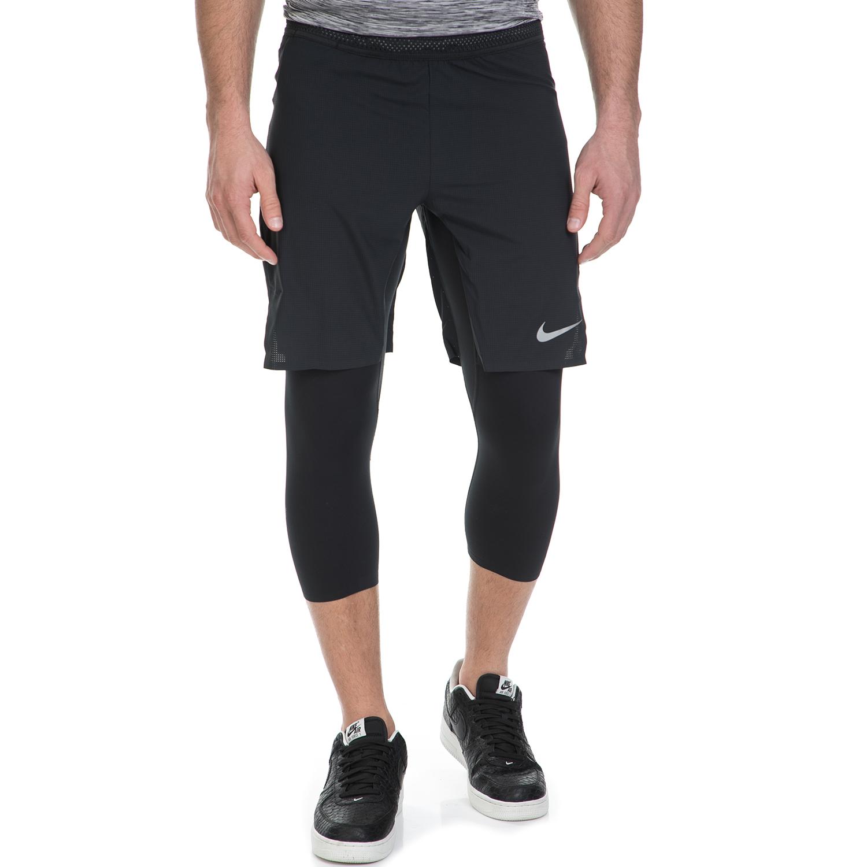 NIKE - Ανδρικό αθλητικό σορτς με κολάν Nike μαύρο ανδρικά ρούχα σορτς βερμούδες αθλητικά
