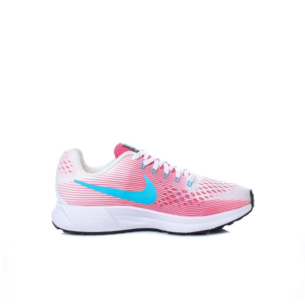 36f0490bbec NIKE – Παιδικά αθλητικά παπούτσια Nike ZOOM PEGASUS 34 (GS) λευκά – ροζ.  Factoryoutlet