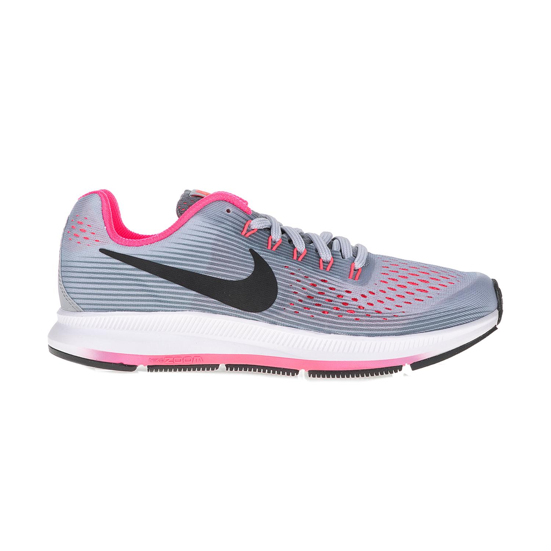 NIKE – Παιδικά αθλητικά παπούτσια NIKE ZOOM PEGASUS 34 (GS) γκρι – ροζ
