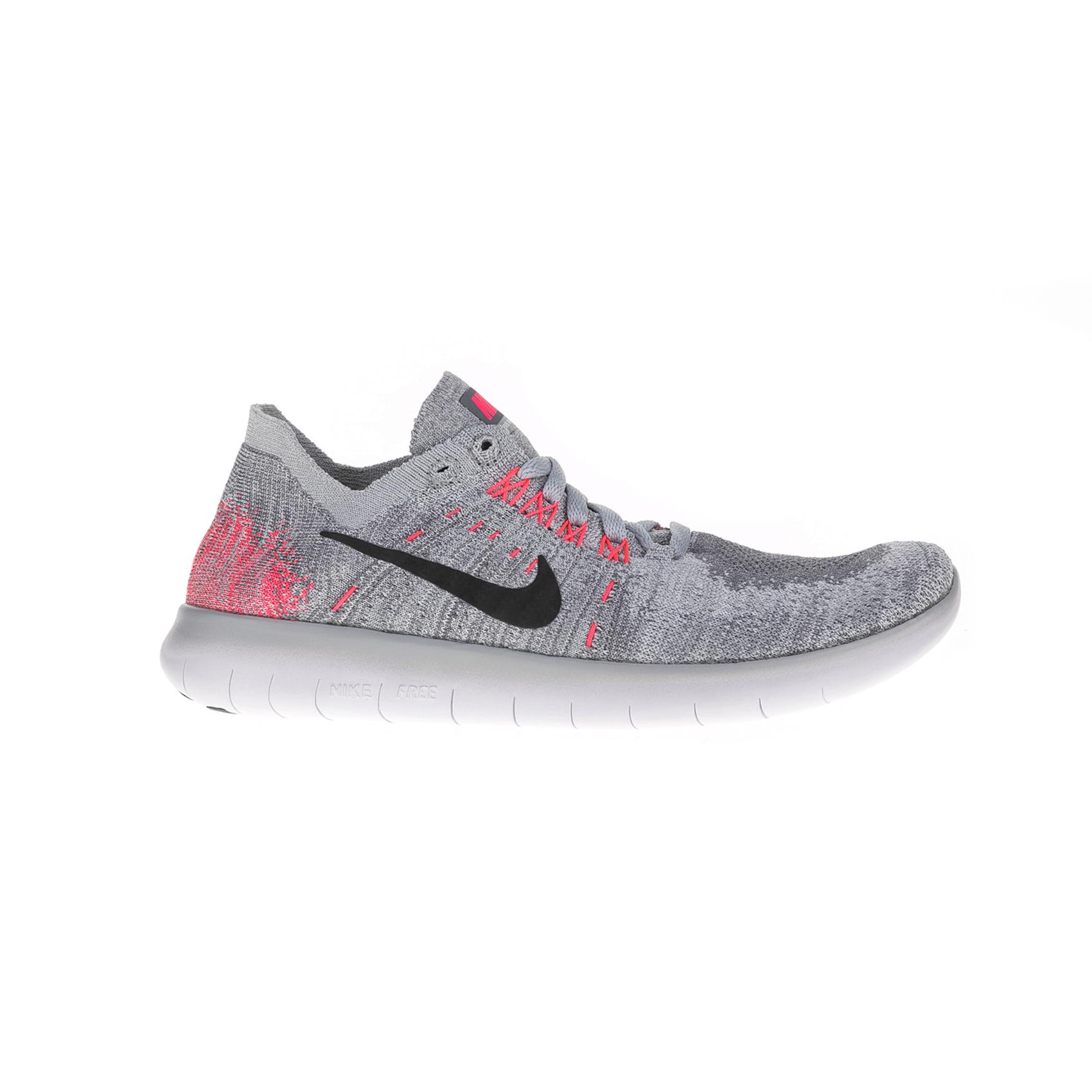 NIKE – Παιδικά αθλητικά παπούτσια Nike FREE RN FLYKNIT 2017 (GS) γκρι – κόκκινα