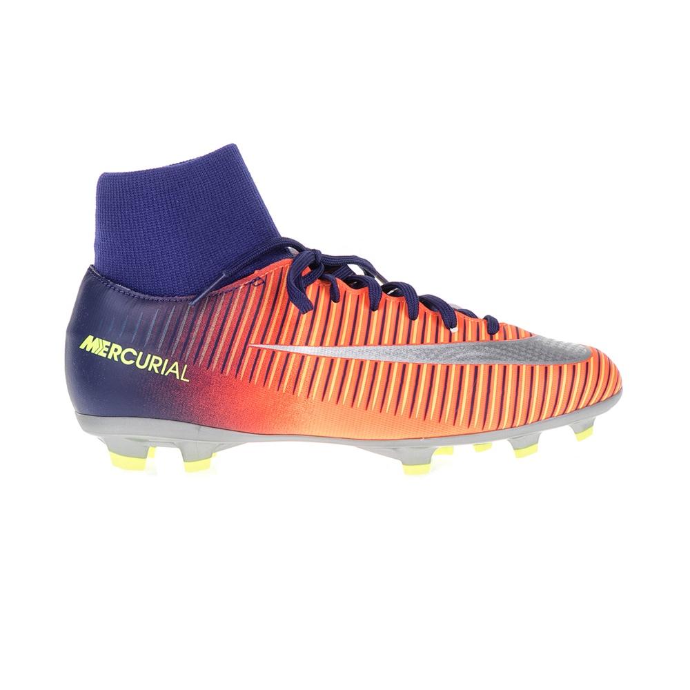 NIKE – Παιδικά παπούτσια ποδοσφαίρου JR MERCURIAL VICTORY VI DF FG μπλε – πορτοκαλί