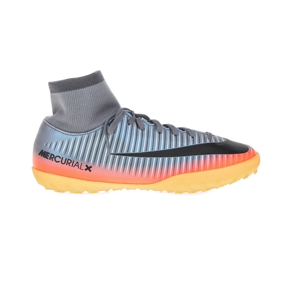 NIKE – Παιδικά παπούτσια ποδοφαίρου JR MERCURIALX VCTY 6 CR7 DF TF γκρι – πορτοκαλί