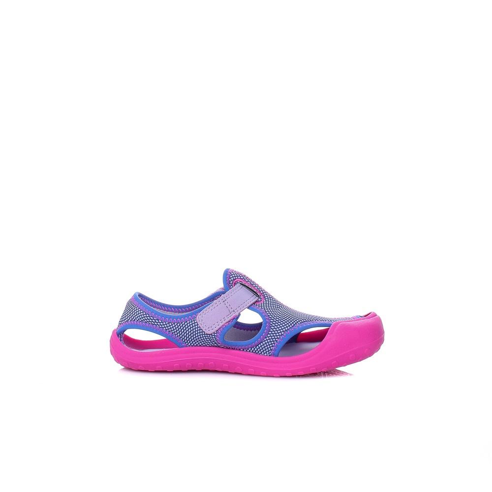 NIKE – Κοριτίστικα σανδάλια NIKE SUNRAY PROTECT (PS) μοβ-ροζ