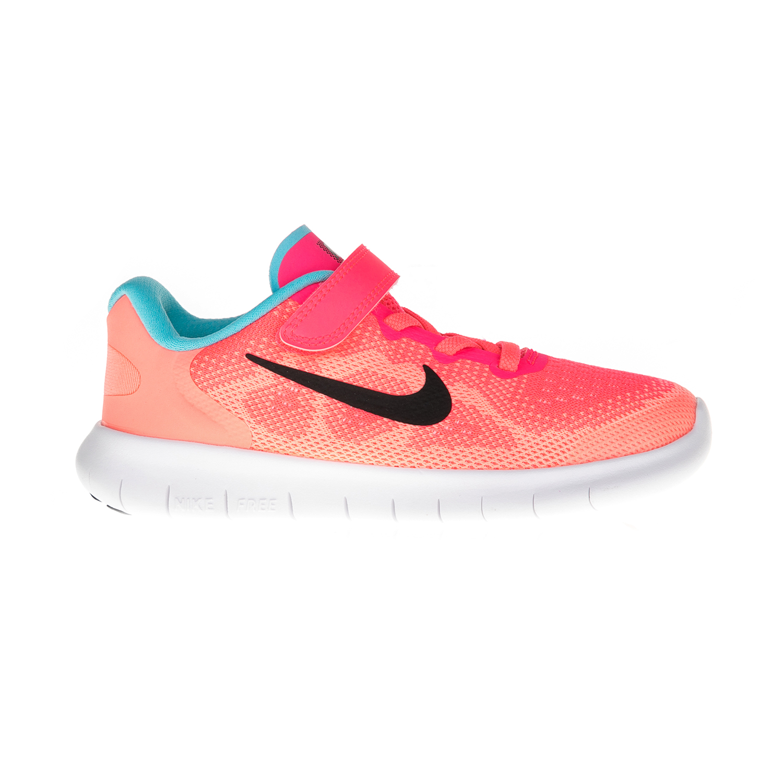 NIKE – Παιδικά αθλητικά NIKE FREE RN 2017 πορτοκαλί-ροζ