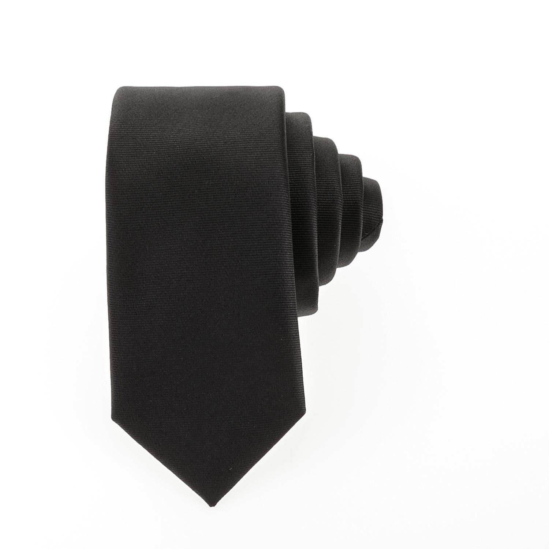 HAMAKI - Ανδρική γραβάτα HAMAKI μαύρη ανδρικά αξεσουάρ γραβάτες