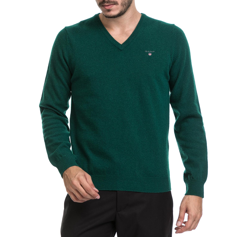1e546752568d GANT – Ανδρικό πουλόβερ GANT πράσινο