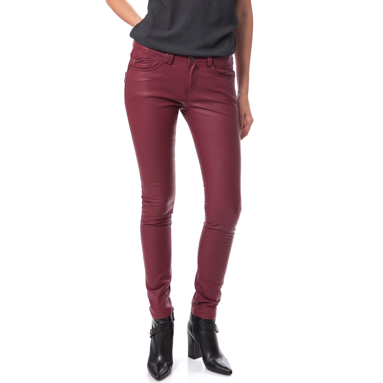 GARCIA JEANS – Γυναικείο παντελόνι Garcia Jeans μπορντώ