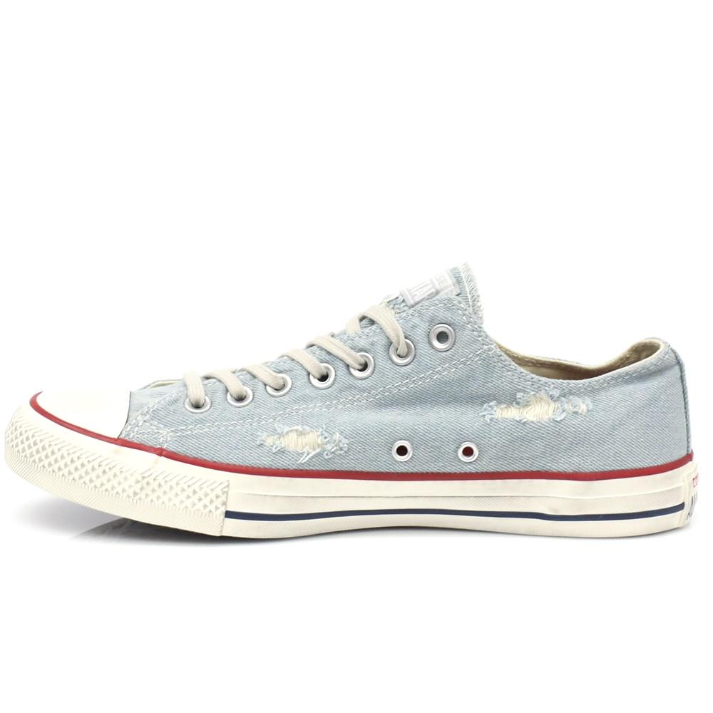 CONVERSE – Unisex παπούτσια CT AS Denim Destroyed μπλε